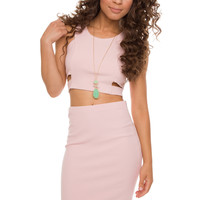 Down To Earth Crop Top - Pink