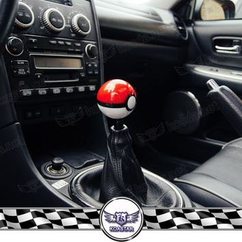 Go Ball Gear Shift Knob Pokeballs 54mm Plastic Universal Racing Head Gears Knob 3 ThreadsKawaii Pokemon go  AT_89_9