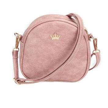 Handbag Phone Purse Women Small Bag Imperial Crown PU Leather Women Shoulder Bag Cross body Bag