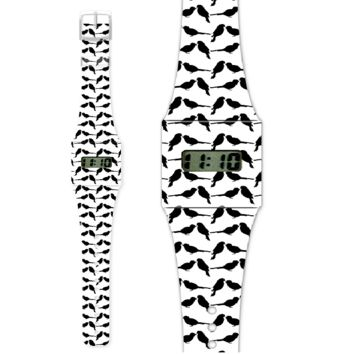 Fashion Pappwatch Made of Paper Tyvek - Black Sparrow