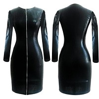 Women Dreess Synthetic Leather