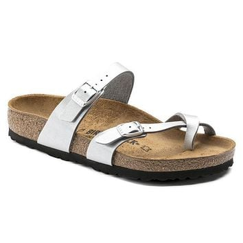 Birkenstock Mayari Birko Flor Graceful Silver 1009608/1009609 Sandals - Best Deal Onli