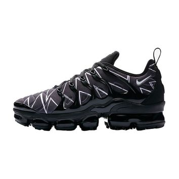 Nike Air VaporMax Plus Zig-Zag Black White | AJ6312-001 Neoprene Sport Running Shoes - Best Online Sale