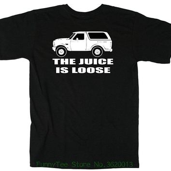 100% Cotton Oj Simpson White Bronco Juice Is Loose Printed Graphic Mens T-shirt