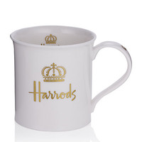 Harrods Signature – Gold Crown Mug in White – buy online now at harrods.com