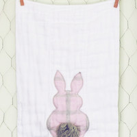 Flannel Lavender Bunny Burp Cloth