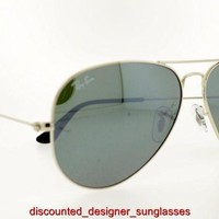 RAY-BAN SUNGLASSES RB 3025 W3277 58MM SILVER CRYSTAL GRAY MIRROR AUTHENTIC NEW