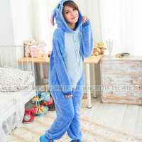 New Cute Unisex Pink Blue Animal Hoodie Kigurumi Pajamas Cosplay Costume Onesuit