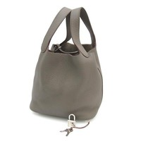 HERMES 2013 Picotine Lock PM Handbag Gray Cadena Storage Bag Free Shipping Japan