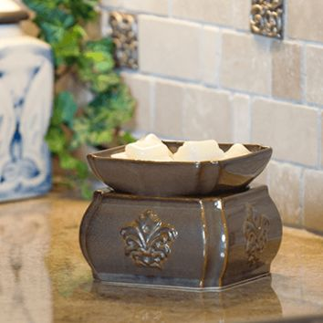 Damask  Fragrance Candle Warmer - Toffee 2-in-1