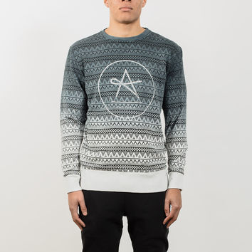 Circle Tron Top Dip Dye Sweat - Black