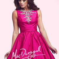 Mac Duggal 64920 - Magenta Beaded High Neck Homecoming Dresses Online