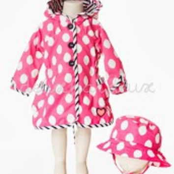 Deux Par Deux Girls Raincoat and Hat Pluies d'Avril