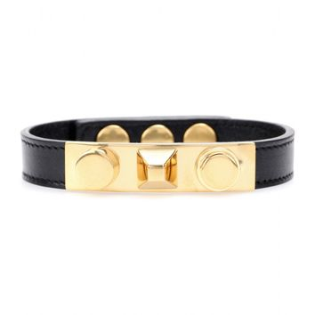 saint laurent - studded leather bracelet