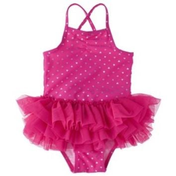 Circo® Infant Toddler Girls' Heart Tutu 1-Piece Swimsuit