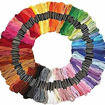 Renba Embroidery Floss 100 Skeins Embroidery Premium Multi-Color Cross Stitch Threads Friendship Bracelet String