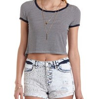 Striped Ringer Tee by Charlotte Russe
