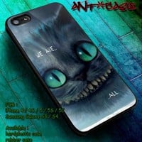 Samsung Galaxy S5/S4/S3 iPhone 4/4s/5/5c/5s We're all mad here case