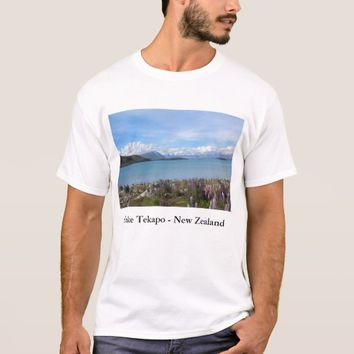 Beautiful New Zealand Lake Tekapo Landscape Tshirt
