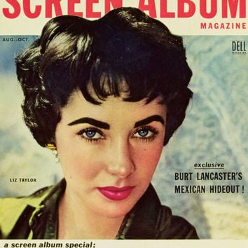 Elizabeth Taylor 11x17 Screen Album Magazine Cover Poster (1950's)