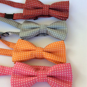 Boys bow tie baby pink youth bow tie Easter accessories boys photo prop toddler bow tie polka dot bow ties boys