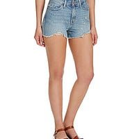 Levi's® High-Rise Distressed Shorts - Spotted Blue Wash