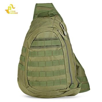 Sports gym bag  Knight 15L Tactical Bag Molle Army Military Shoulder Bag Chest Pack Messenger Bag Outdoor Camping Hiking Hunting  KO_5_1