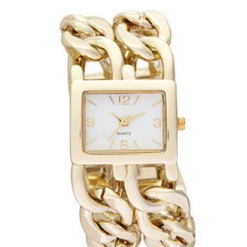 Titanium Double Chain Strap Watch, 27mm (Juniors) | Nordstrom