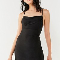 UO Jagger Cowl Neck Bodycon Mini Dress | Urban Outfitters