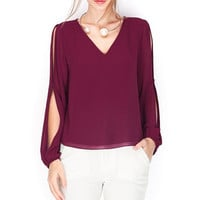 Split Sleeved Top