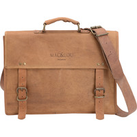 Mac&Lou Leontius Leather Briefcase - Brown