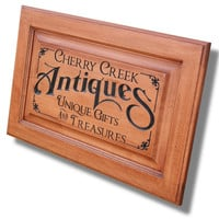 BUSINESS SIGN, Custom Sign, Carved,.. on Luulla