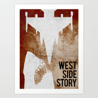west side story Art Print by Alex Lodermeier