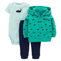 Just One You™Made by Carter's® Newborn Boys' 3 Piece Whale Set - Green