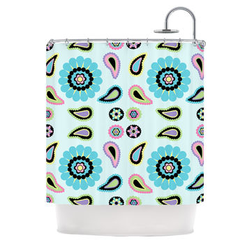 "Nina May ""Paisley Candy"" Paisley Flower Shower Curtain"
