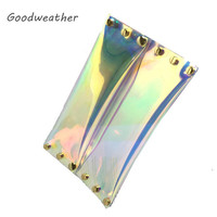 Fashion transparent laser PVC envelope clutch designer ladies summer beach waterproof holographic jelly rivet bag for party-in Clutches from Luggage & Bags on Aliexpress.com | Alibaba Group