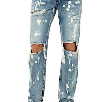 MENS BLEACH SPLATTER DESTROYED ROCCO SKINNY JEAN