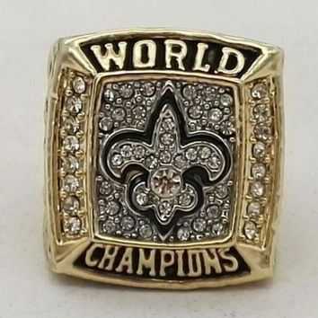 VONEIR6 SPORTS RING * 2009 NEW ORLEANS 'SAINTS' WORLD * CHAMPIONS/... fast delivery!
