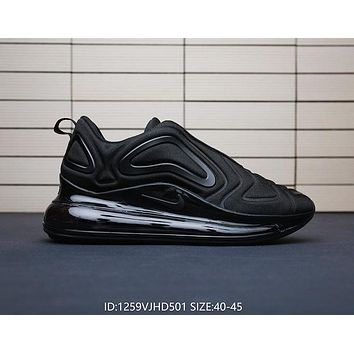 Nike Air Max 720 Fashionable Men Personality Sport Running Shoes Air Cushion Sneakers Black