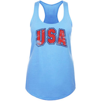 Ladies 'USA' Racerback Tank