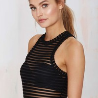 Nasty Gal Ain't Seen Nothin' Yet Sheer Tank Top - Black