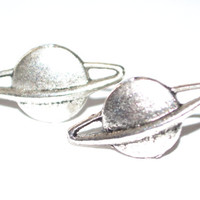 Silver or Gold  Saturn Earrings - Planet Posts Space Saturn Jupiter - Galaxy Nebula Geekery