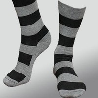 Organic Merino Wool Sock - Wide Stripes