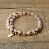 Sunstone Delicate Wrist Mala Bracelet or Choker for Joy