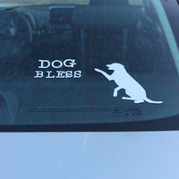 Dog Bless Mirrored Car Decal