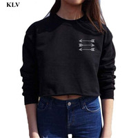 New Women Sweater Fall Fashion Sexy Short Crop Sweaters And Pullovers Autumn Cropped Jumpers Feminino Se3