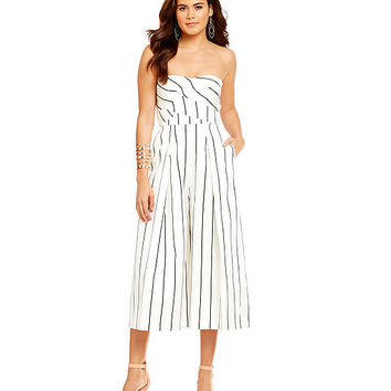 Keepsake True Awakening Stripe-Print Jumpsuit | Dillards