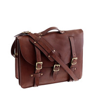 J.Crew Mens Montague Leather Satchel