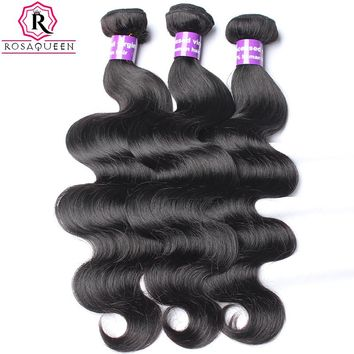 Body Wave Brazilian Virgin Hair Weave Human Hair Bundle 1pc Hair Extension Can Buy 3 or 4 Bundles Rosa Queen Hair Products