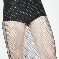 Goth Bombshell Fishnet Skirt